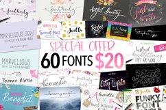Joanne Marie 60 Font Bundle Product Image 1