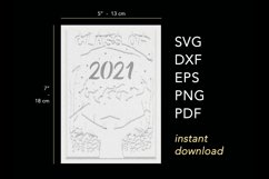 3D Layered Graduation Shadow Box svg, Light Box Template Product Image 4