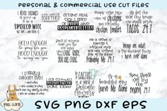 Funny Snarky Crazy Mom Puns Bundle of 14 Bestseller SVGs Product Image 1