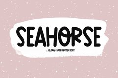 Seahorse - A Fun & Quirky Handwritten Font Product Image 1