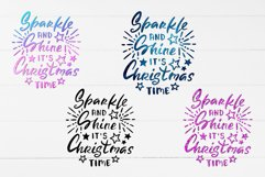Sublimation PNG Quote Sparkle and Shine it's Christmas Time Product Image 2
