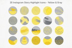 20 Abstract Instagram Story Highlight Icons - Yellow & Gray Product Image 2