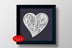 3D layered Heart Cut file Product Image 3
