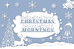 Christmas Mornings | Winter & Christmas Font with Extras Product Image 1