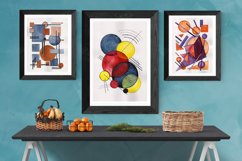 Hand painted Abstract Simple Geometric Forms Composition Product Image 6