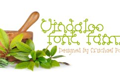 Vindaloo typeface cover page