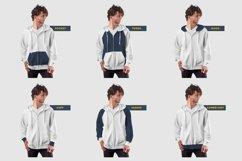 3 Men's Zip Hoodie Mockups Product Image 3