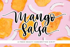 Mango Salsa with Bouncy Handwritten Script Font Style Product Image 1