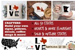 50 states bundle svg dxf United states svg silhouette cricut Product Image 3