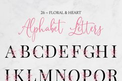 Floral & Heart Alphabet Product Image 2