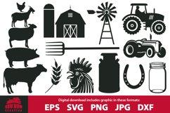 Farm / Farmer clipart & cutting file bundle Product Image 1