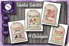 Santa Sack digital bundle of 4 designs - SVG, PNG & PDF Product Image 1