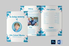 Funeral Program Template | Obituary Template Product Image 1
