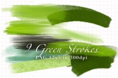 9 Green Strokes for St. Patricks Product Image 1