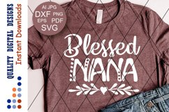 Blessed nana svg Heart clipart Blessed sign Product Image 1