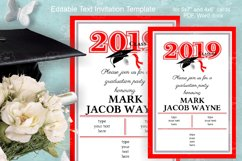 Invitation Template editable text - RED - Grade Party 2021 Product Image 3