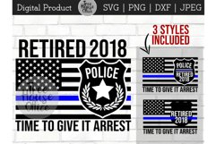 Police Officer Retirement, Cop Retiree, Law Retired SVG PNG Product Image 1
