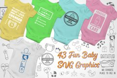 Baby SVG Bundle with 43 Graphics illustrations for onesies. Product Image 1