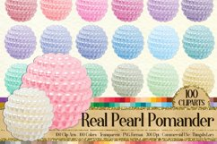 100 Pearl Pomander Digital Clip Art Jewelry Pearl Ball Image Product Image 1