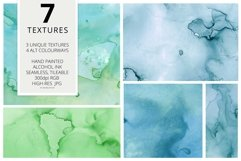 7 Huge Seamless Green Alcohol Ink Textures Product Image 2