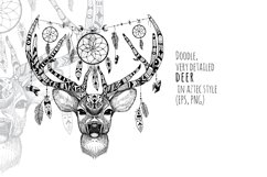 Textured deer in aztec style Product Image 1