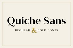 Quiche Sans Regular and Bold Fonts Product Image 1