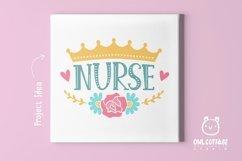 Nurse Crown with Flowers SVG, Nurse Floral SVG, Nurse Tattoo Product Image 6