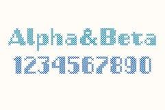 Stitch it up a bold cross-stitch sans serif font Product Image 2
