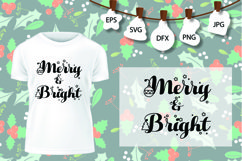 Merry And Bright SVG, Christmas Tree SVG, Christmas SVG Product Image 1
