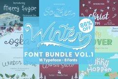 Winter Font Bundle Vol.1 Product Image 1