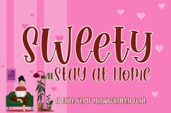 Sweety Stay at Home Cute Serif Handwritten Font Product Image 1