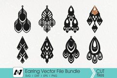 Earring Svg, Earring Template Svg, Leather Earring Svg Product Image 1
