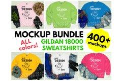 Gildan 18000 Sweatshirt Mockup Bundle - All Colors! Product Image 2