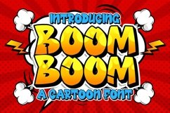 Boom Boom Cartoon Font Product Image 1