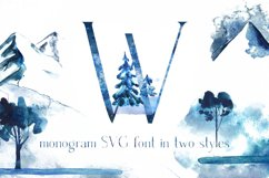 Winter Fairytale-SVG monogram and regular font in two styles Product Image 1