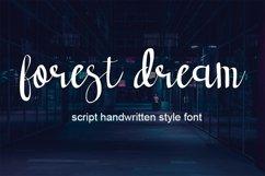 forest dream script handwritten font Product Image 1