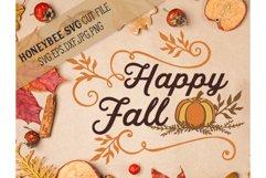 Happy Fall Pumpkin svg Product Image 1