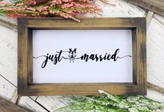 Just Married BUNDLE Cut Files - SVG & PNG Product Image 3