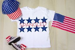 Bright Stars - A Hand-Drawn 4th of July Monogram Font Product Image 4