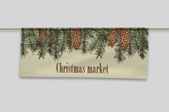 Christmas clipart 80's Watercolor individual elements PNG Product Image 3