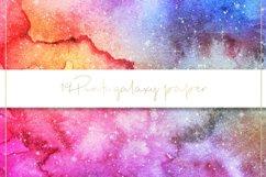 Galaxy watercolor digital paper Product Image 5