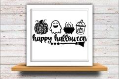 Pumpkin svg JPEG Silhouette Cameo Cricut halloween leopard Product Image 2