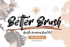 Better Brush // Realistic Brush Style - WEB FONT Product Image 1