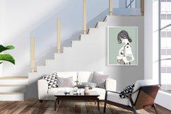 Art Print | Wall art Girl fashion,Minimalist Artwork Product Image 3