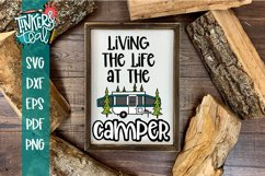 Living Life At the Camper Pop Up SVG Product Image 1