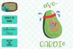 Avo-Cardio Sublimation Design Product Image 1