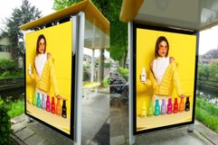 Realistic Bus Stop Poster Mockup Product Image 1