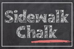 Sidewalk Chalk - a Zentangle Inspired Coloring Font Product Image 1