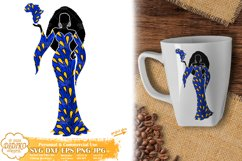 Black Woman SVG, Afro Woman SVG, Africa PNG, Ankara SVG Product Image 1