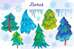 Watercolor snowflakes Product Image 5